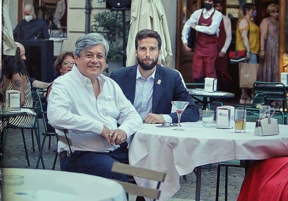 Da sin Console Generale del Perù a Torino - César Jordan e Edoardo Cavagnino Presidente Gelati PEPINO 1884