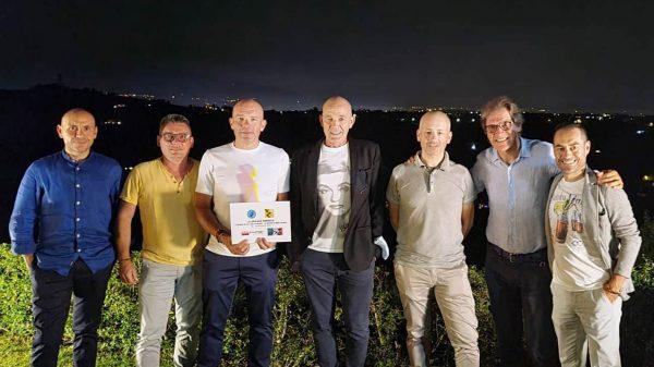 La Squadra Fortissimi Piero Chiesurin, Filippo De Luca, Luca Dell'Armellina, Giandomenico Santarossa e Romeo Bissoli
