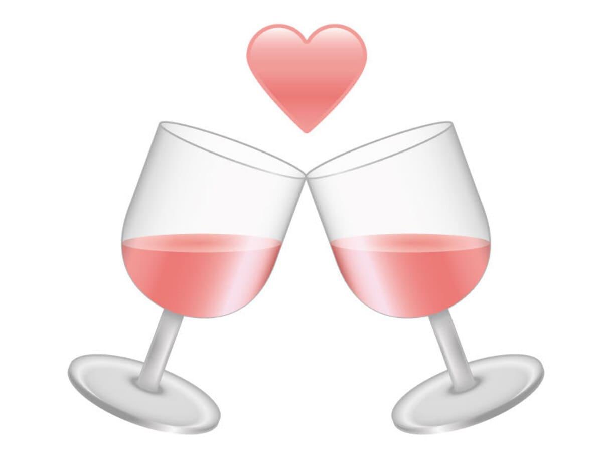 emoticon pinkwine vino rosè