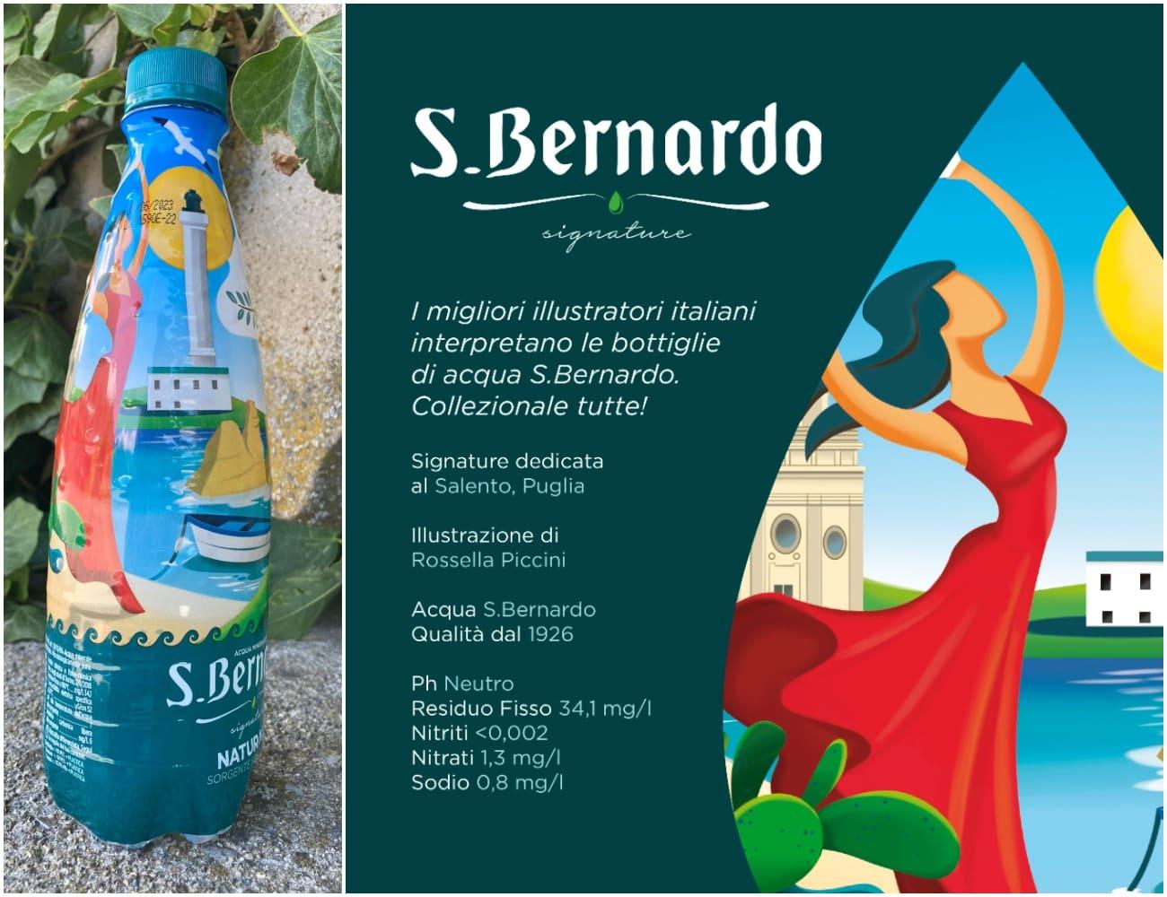 limited edition di Acqua S.Bernardo dedicata al Salento