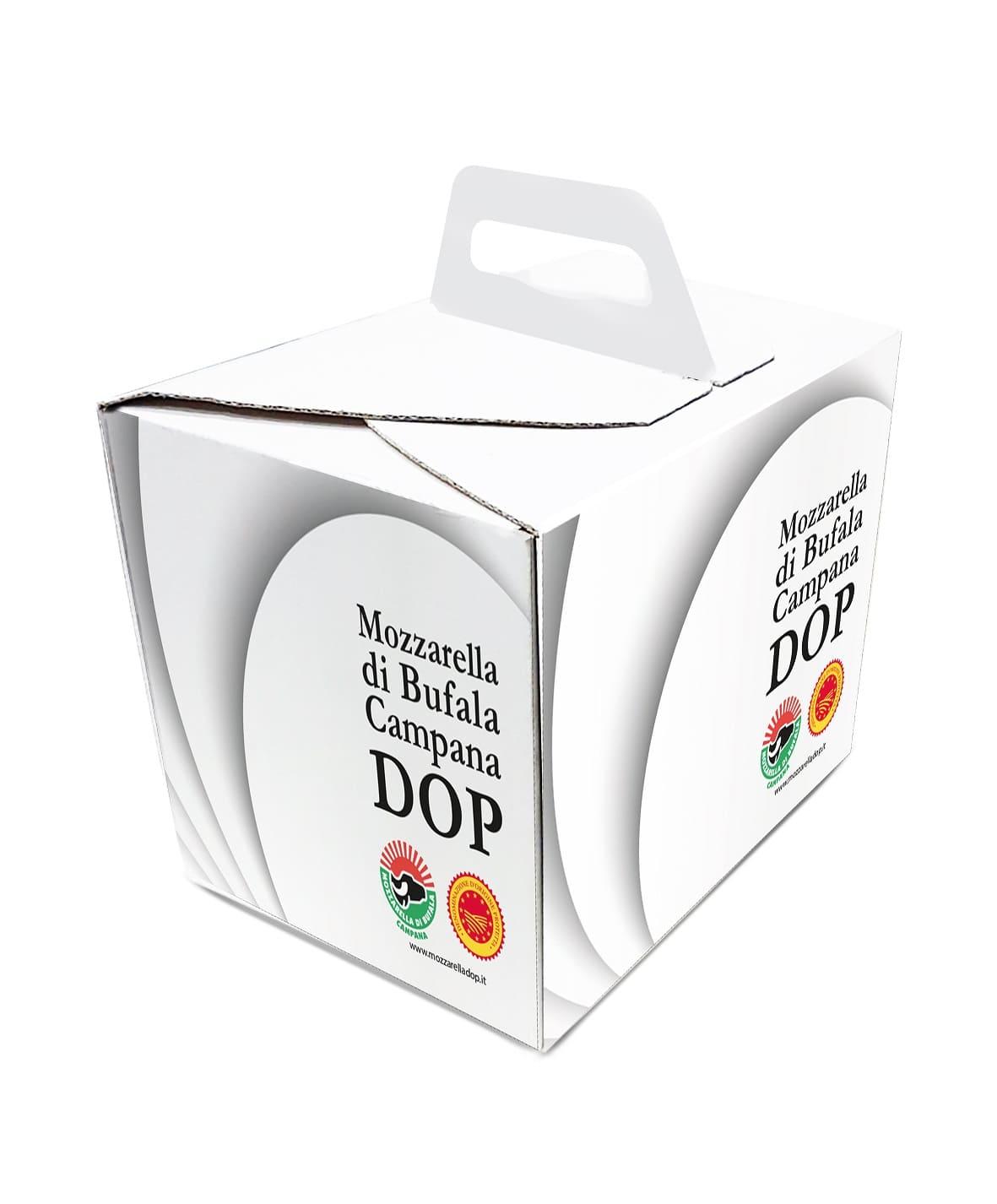 packaging green per Mozzarella di Bufala Campana Dop