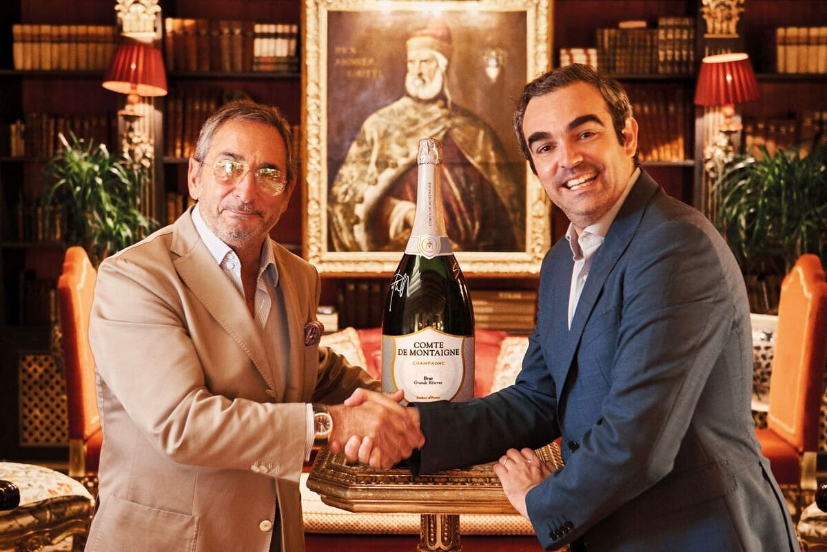 Stephane Revol Ceo Comte de Montaigne con Paolo Lorenzoni, General Manager The Gritti Palace