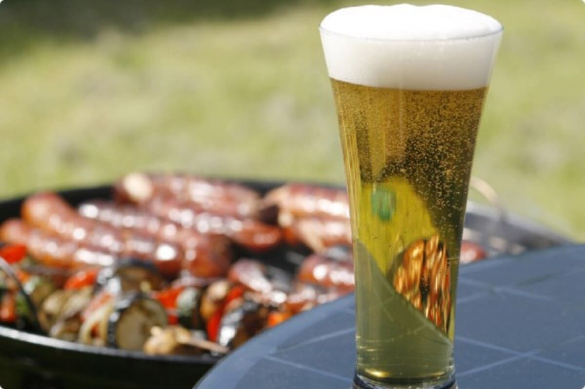 bbq birra carne verdure alla griglia