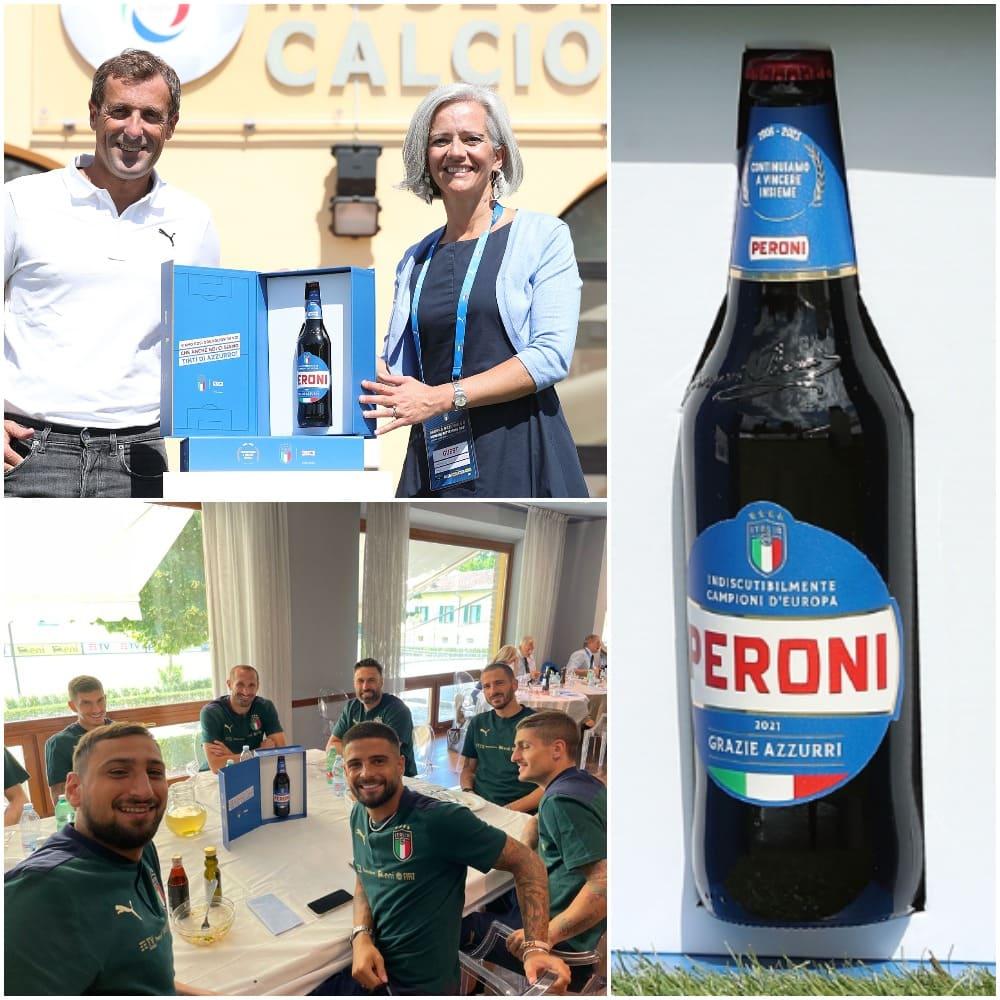Peroni si tinge di azzurro con una special edition omaggio alla Nazionale di calcio Campione d'Europa