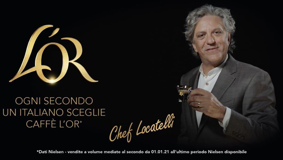 Giorgio Locatelli è il nuovo volto della campagna pubblicitaria di L'OR Espresso