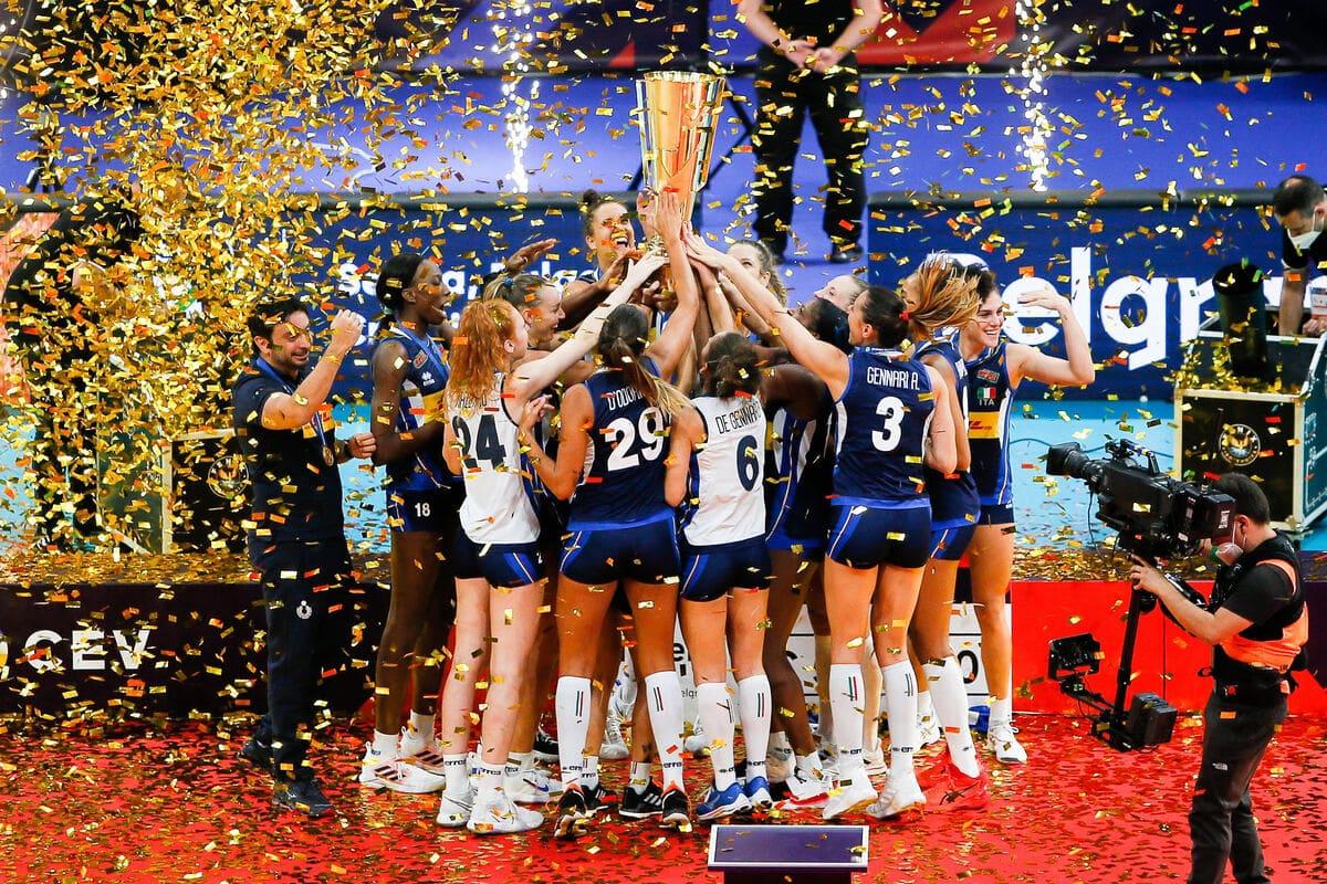 Consorzio del Parmigiano Reggiano festeggia la vittoria della Nazionale italiana agli Europei di pallavolo femminile